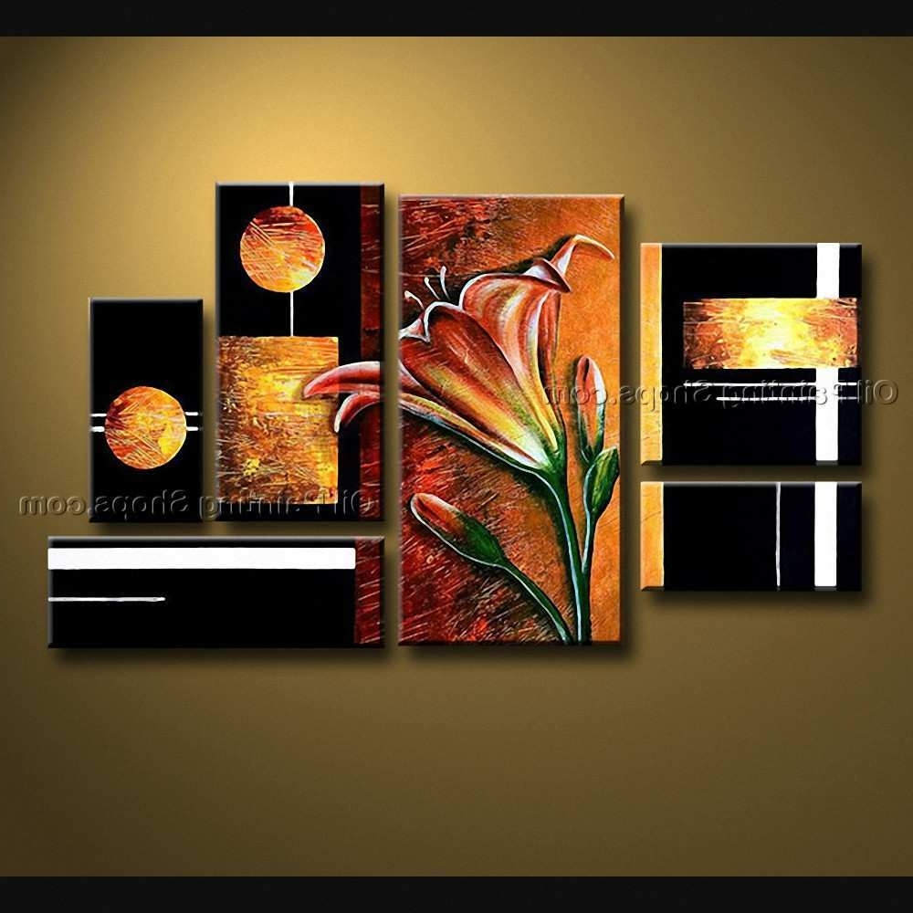 Most Popular Modern Large Canvas Wall Art Inside Big Canvas Art Lovely Hand Painted Huge Modern Abstract Painting (View 14 of 20)