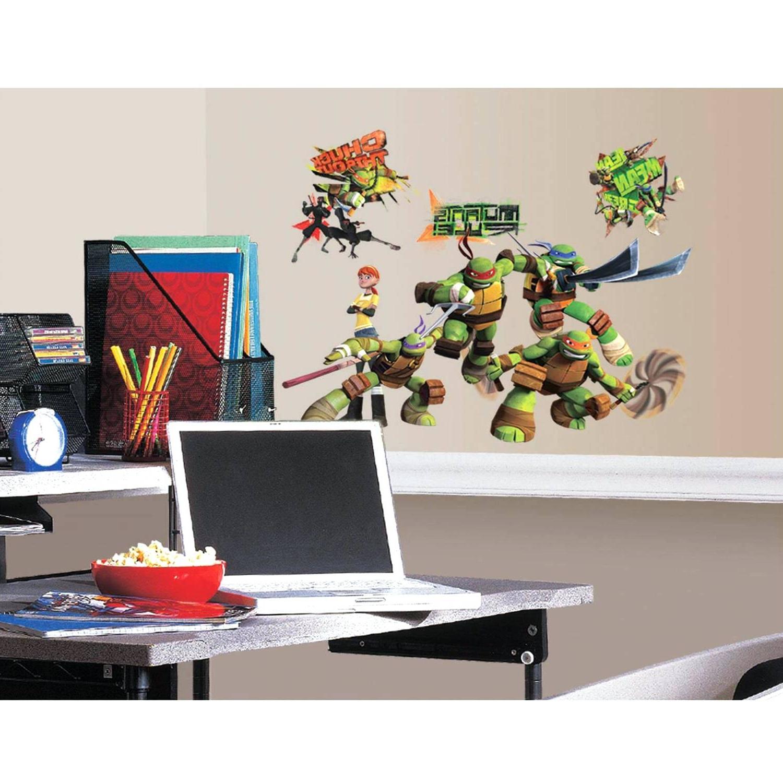 Most Popular Ninja Turtle Wall Art For Thomas The Tank Engine Wall Decals Bedroom Emoji Room Ideas Ninja (View 8 of 20)