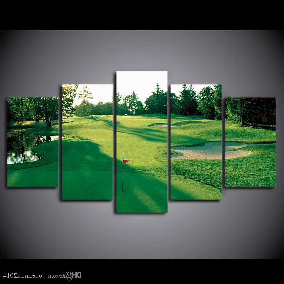Most Popular Online Cheap Canvas Art Hd Printed Golf Course Green Land Wall Throughout Golf Canvas Wall Art (View 4 of 20)