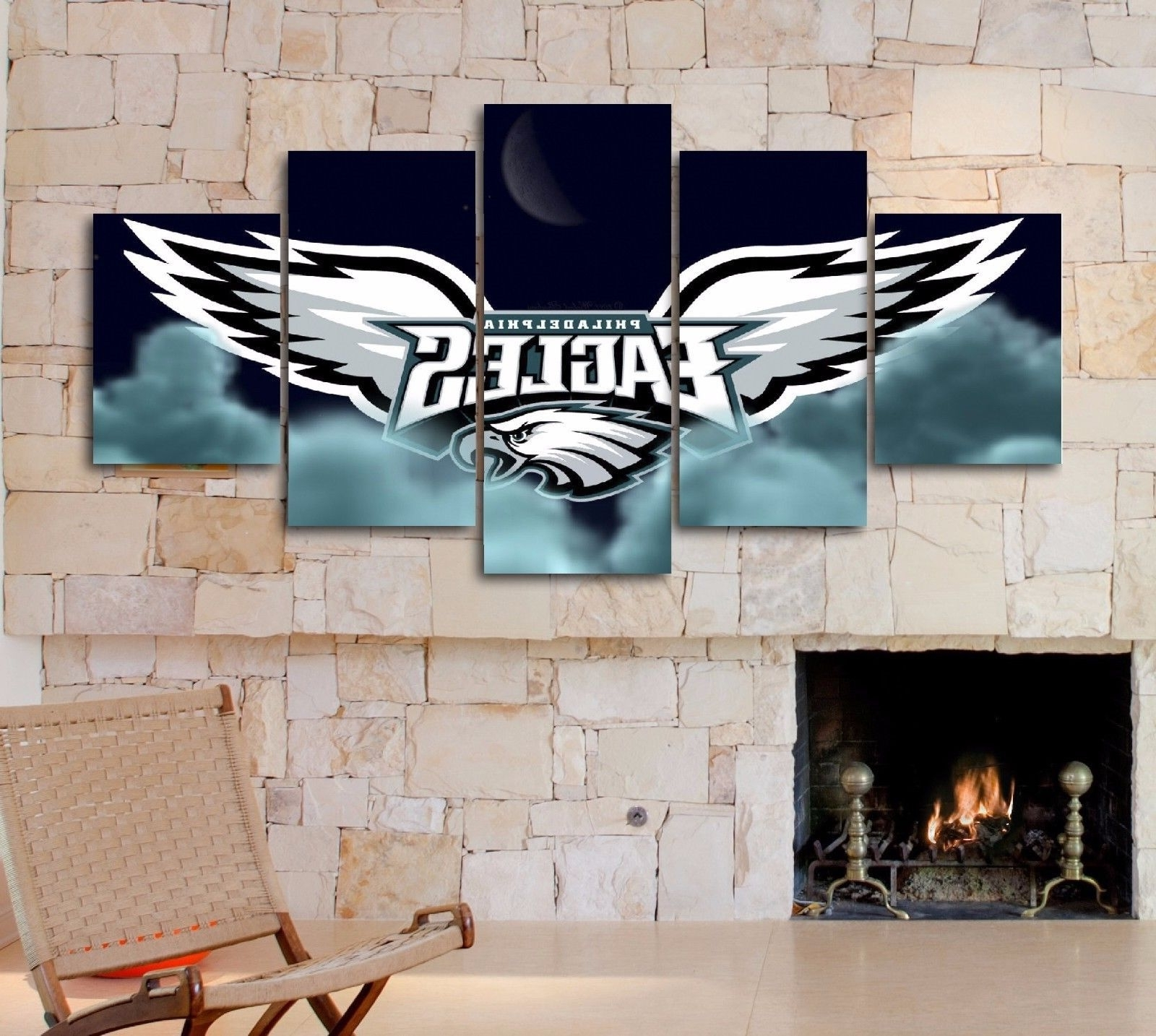 Most Popular Philadelphia Eagles Nfl Sport 5 Piece Canvas And 11 Similar Items In Nfl Wall Art (View 16 of 20)