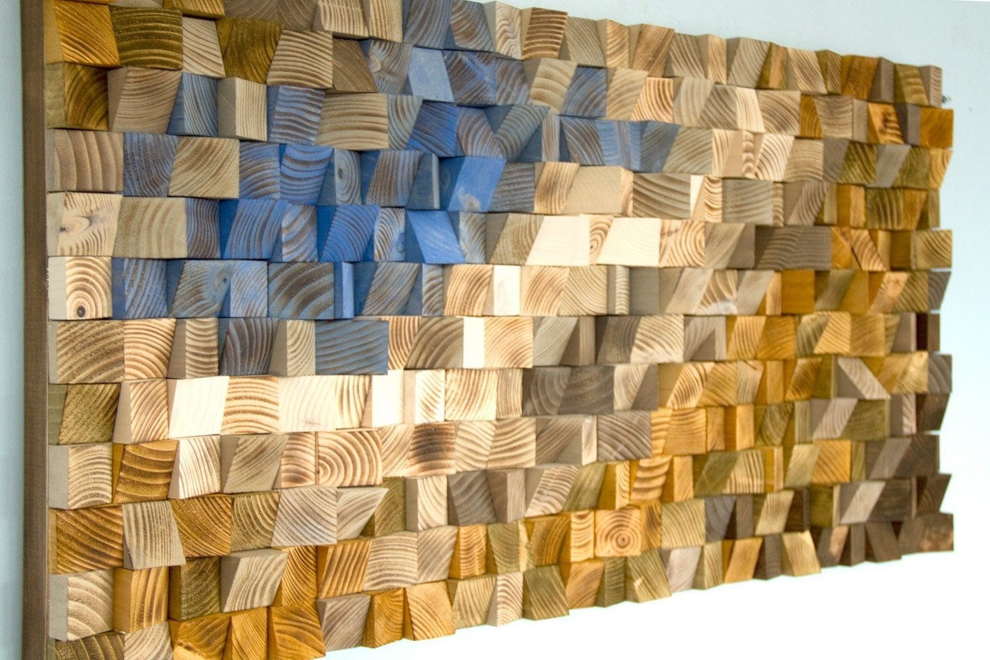 Most Popular Reclaimed Wood Wall Art, Wood Mosaic, Geometric Art, Wood Wall Art Intended For Reclaimed Wood Wall Art (View 3 of 15)