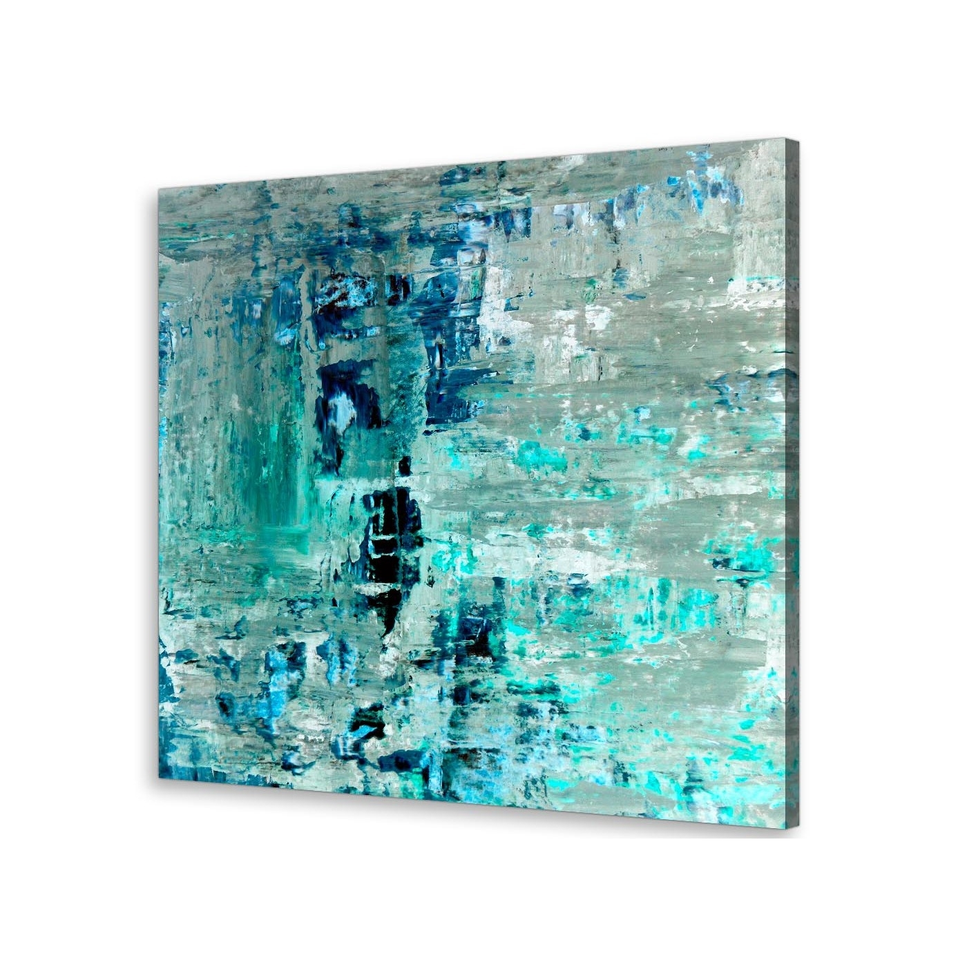 Most Popular Turquoise Teal Abstract Painting Wall Art Print Canvas – Modern 79Cm Pertaining To Turquoise Wall Art (View 12 of 20)