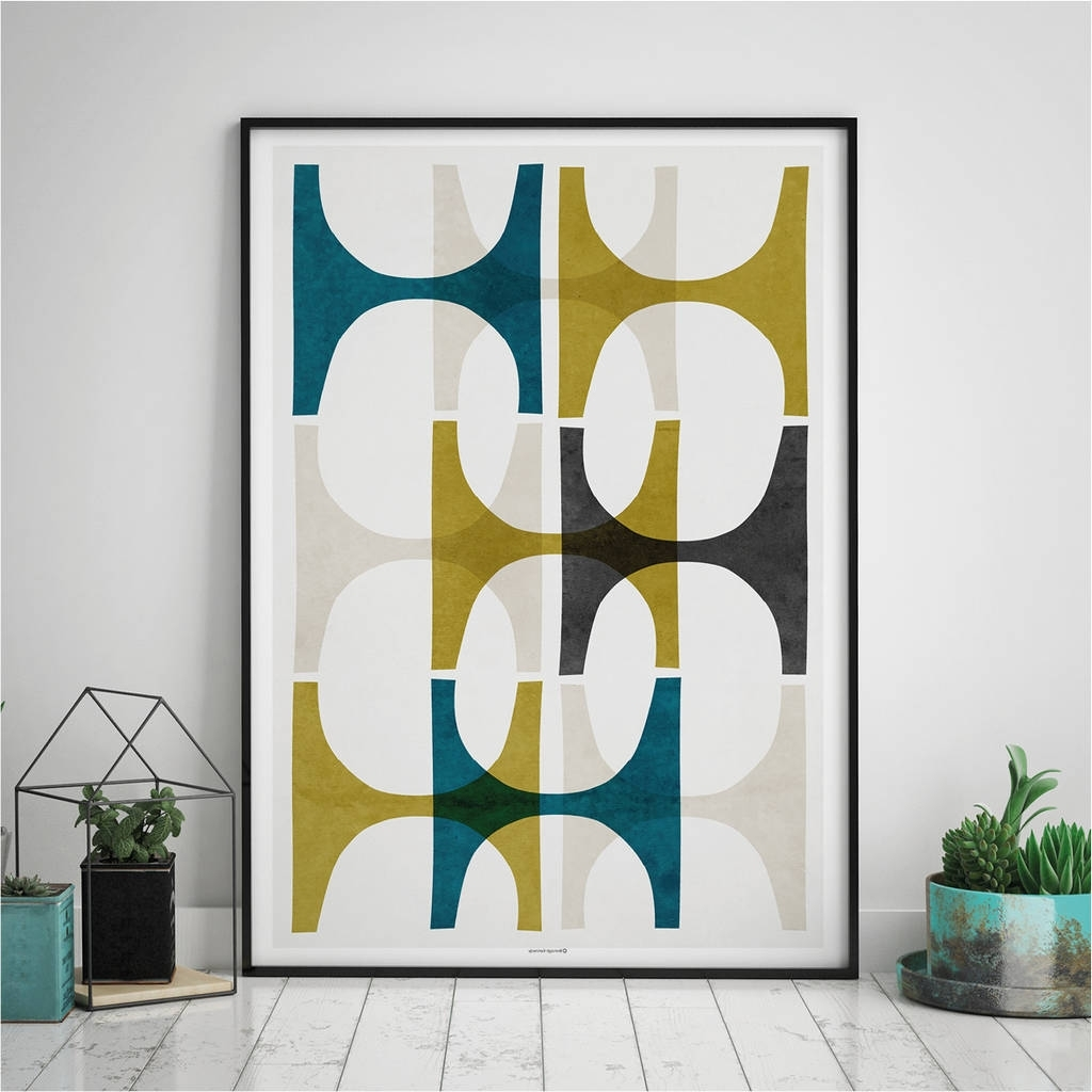 Most Popular Wall Art Prints In Abstract Geometric Wall Art Printbronagh Kennedy – Art Prints (View 15 of 20)