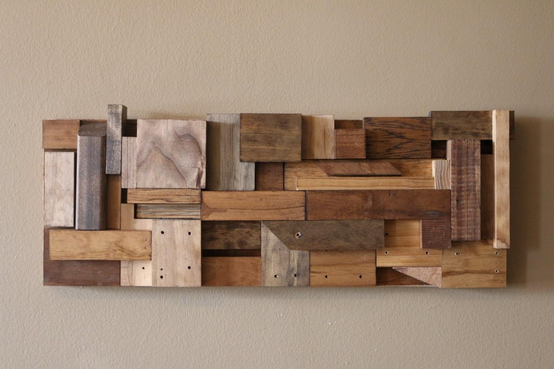 Most Popular Wood Block Wall Art Interior Diy Wood Art Diy Scrap Wood Wall Art With Regard To Wood Wall Art Diy (View 10 of 15)