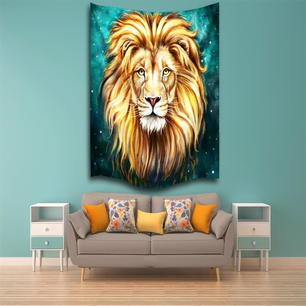 Most Recent 2018 Green Lion King 3D Digital Printing Home Wall Hanging Nature Throughout Lion King Wall Art (Gallery 17 of 20)