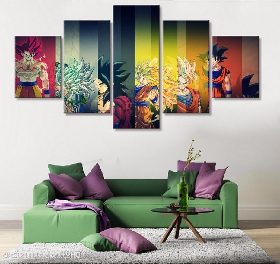 Most Recent 2018 Hd Print Painting Dragon Ball Z Goku Growth Paintings On Canvas Pertaining To Dragon Wall Art (View 15 of 20)