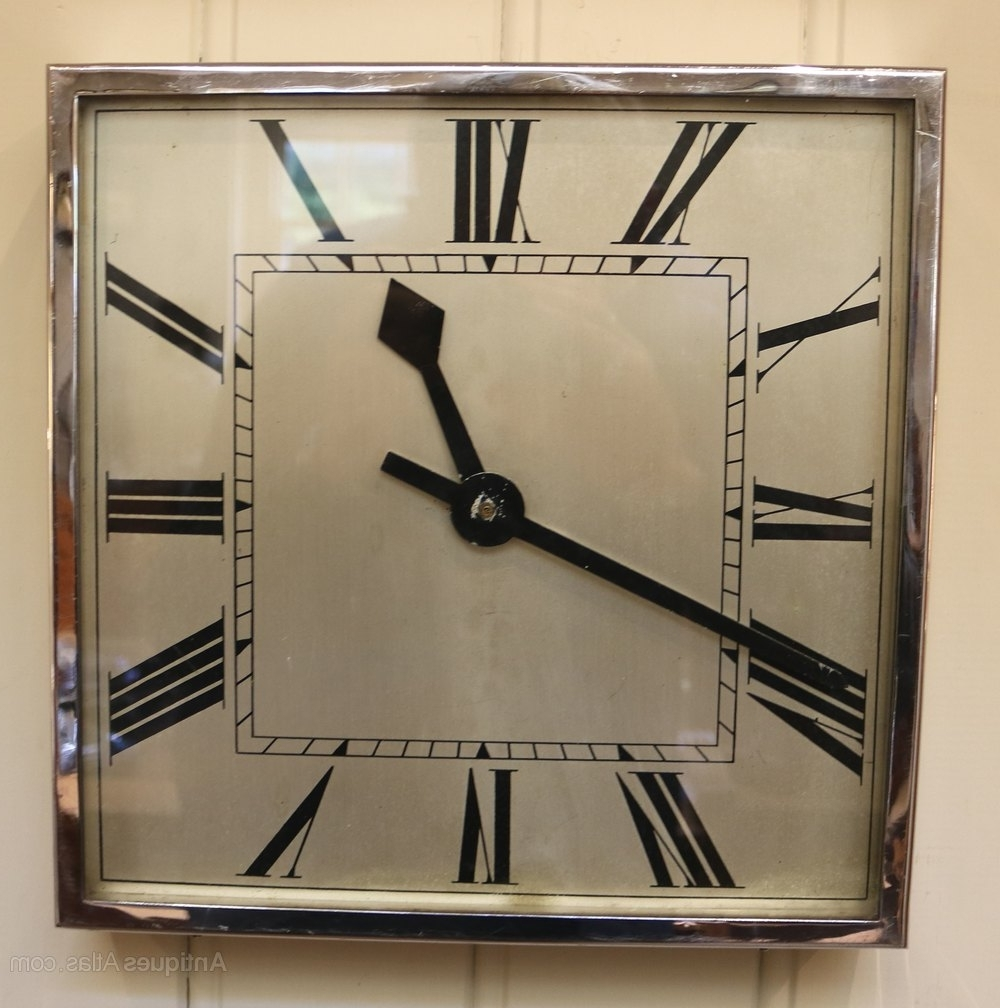 Most Recent Antiques Atlas – Art Deco Wall Clock (England, C (View 9 of 20)