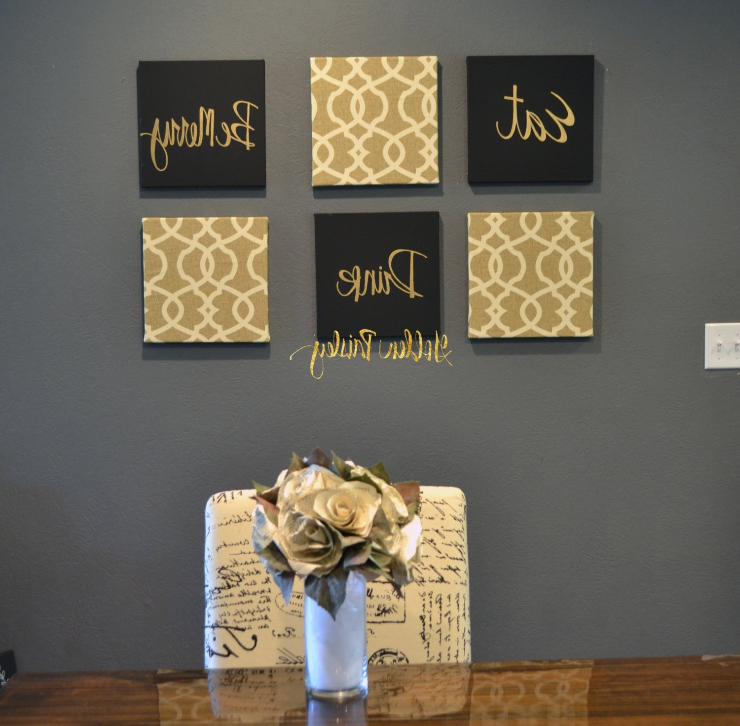 Most Recent Black And Gold Wall Decor Best Inspirational Art Canvas Painting With Black And Gold Wall Art (View 5 of 20)