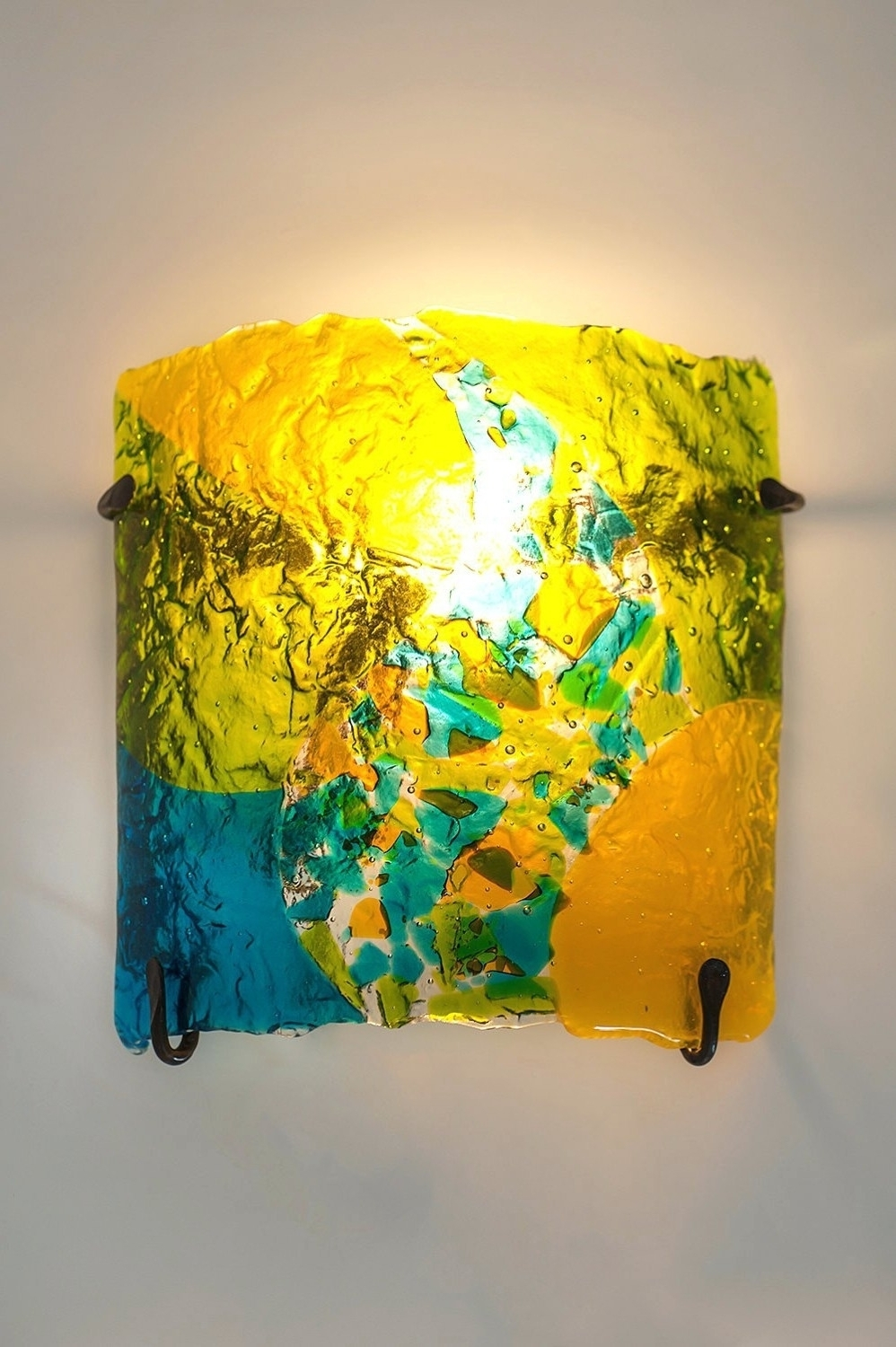 Most Recent Blown Glass Wall Art With Fancy Tempered Glass Wall Decor Ornament The Wall Art Decorations (Gallery 18 of 20)