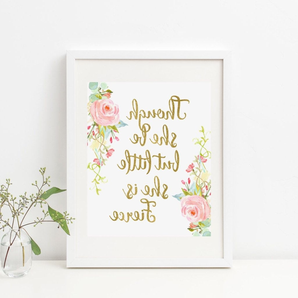 Most Recent Bohemian Though She Be But Little She Is Fierce Printable Nursery Regarding Though She Be But Little She Is Fierce Wall Art (View 3 of 20)