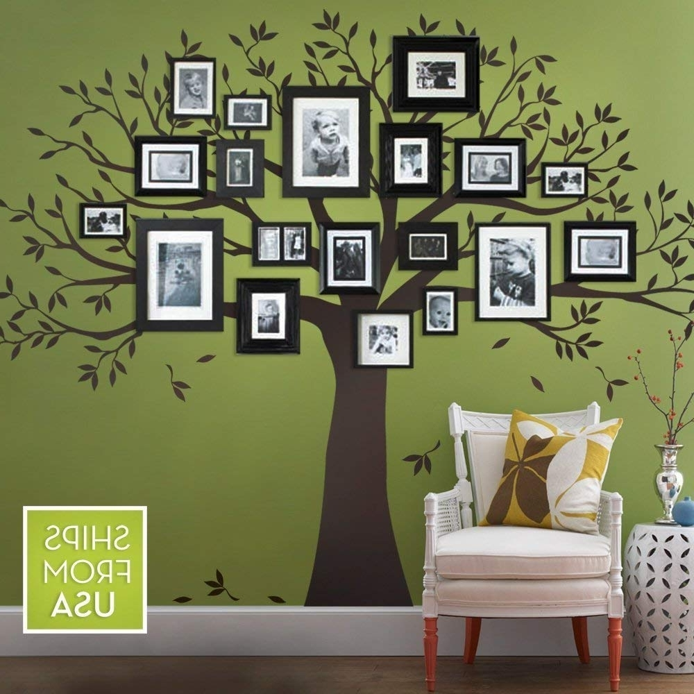 Most Recent Family Tree Wall Decalsimple Shapes (chestnut Brown, Standard Within Family Tree Wall Art (View 6 of 15)