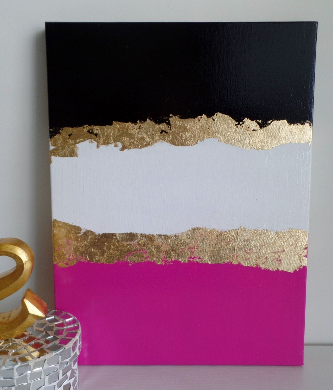 Most Recent Kate Spade Wall Art Within Kate Spade Decoration Inspired, Dorm, Acrylic Canvas Painting, Black (View 15 of 20)