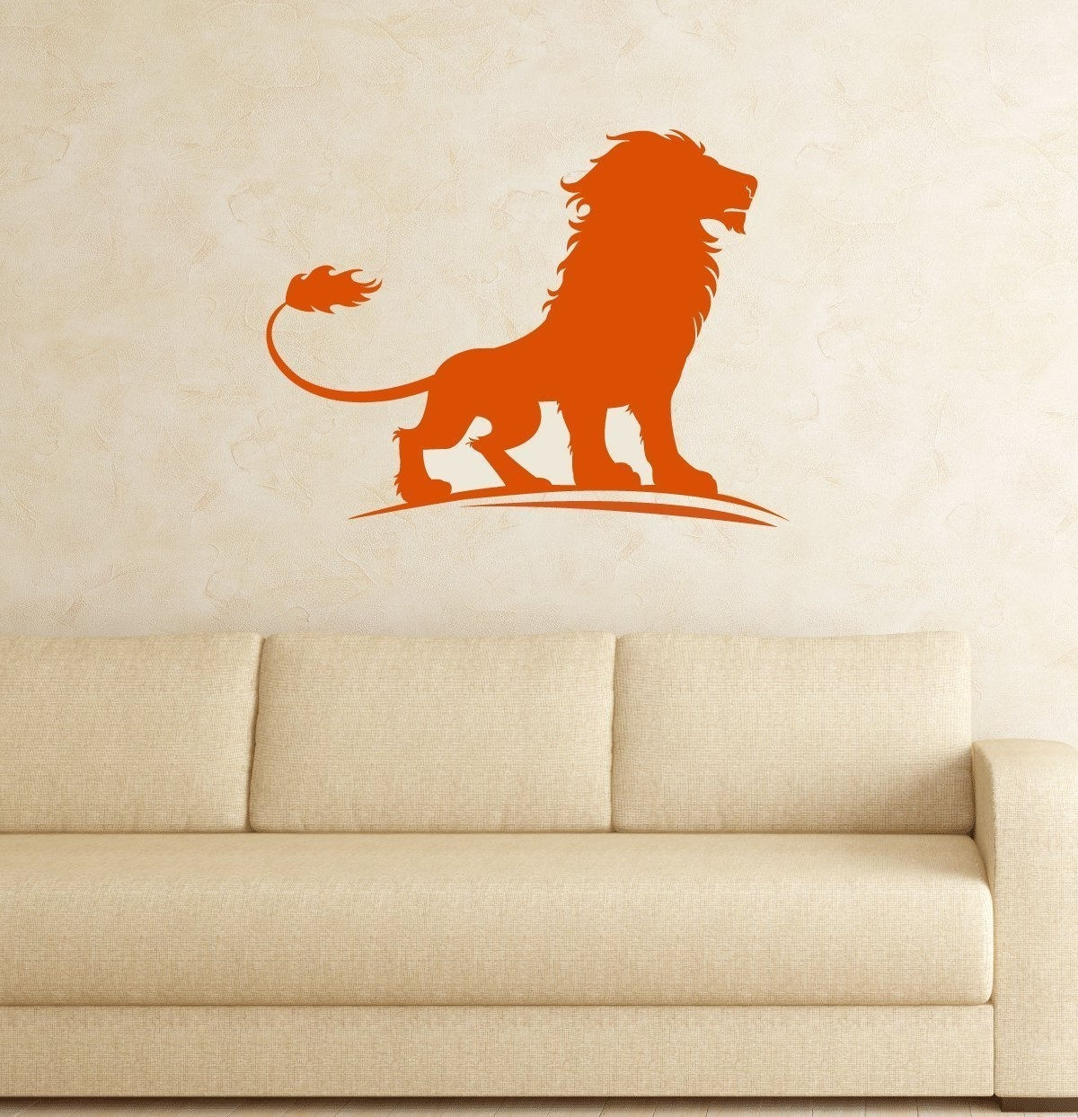 Most Recent Lion Vinyl Decal, King Of The Jungle Wall Art Sticker For Kids Room Inside Lion King Wall Art (View 12 of 20)