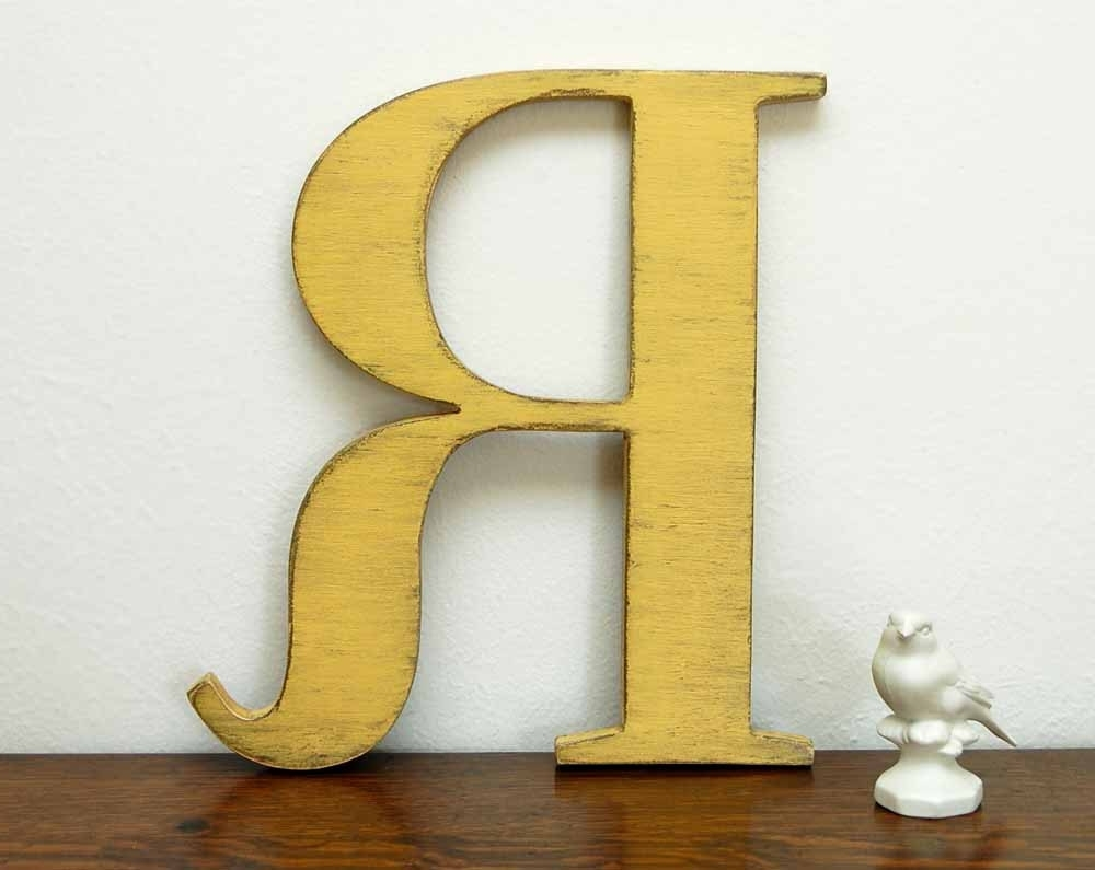 Most Recent Metal Letter Wall Art Intended For Letter R Wall Decor – Solid.graphikworks.co (Gallery 17 of 20)