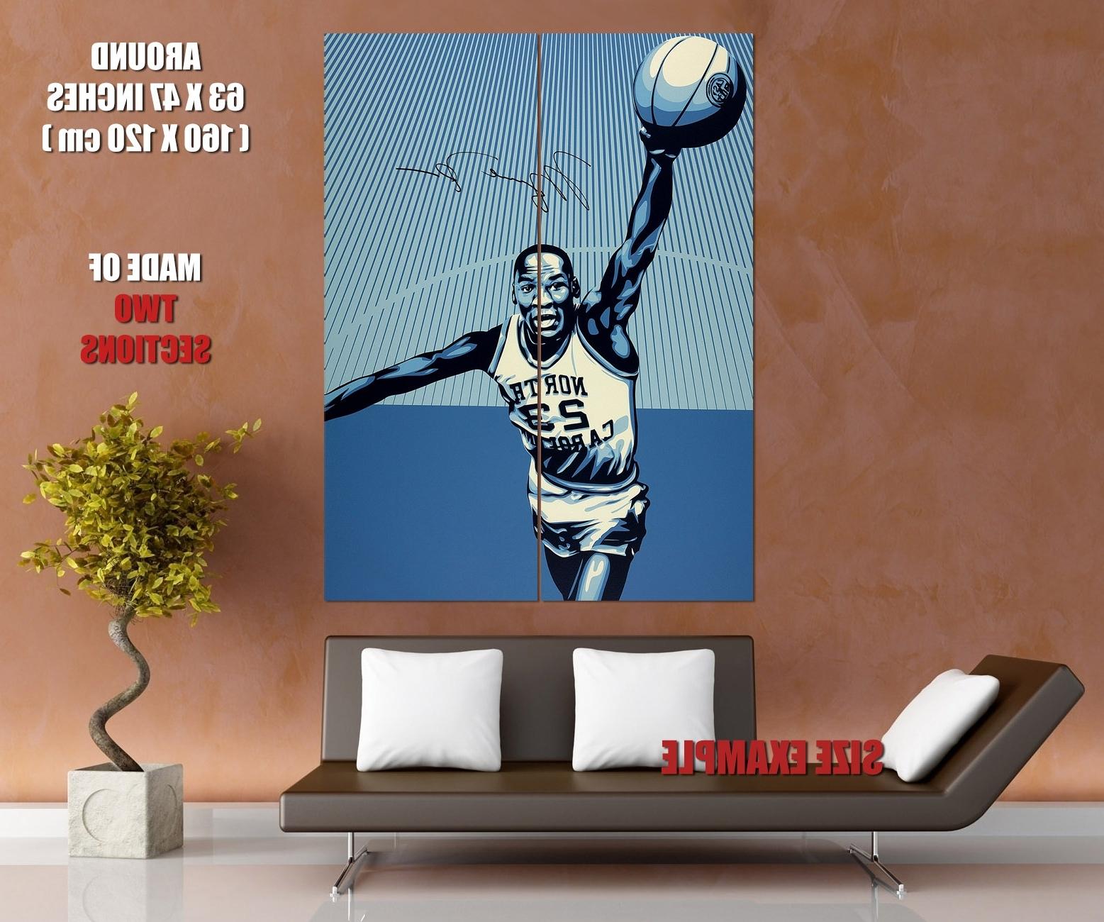 Most Recent Michael Jordan North Carolina Retro Basketball Huge Giant Wall Print With Regard To North Carolina Wall Art (View 7 of 20)
