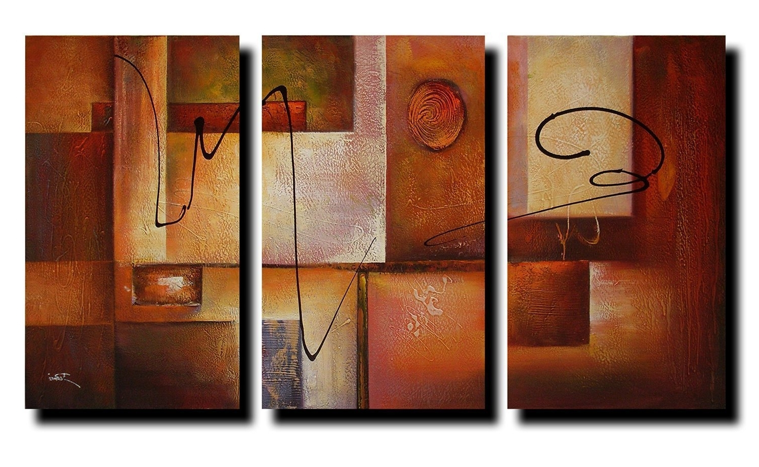 Most Recent Modern Framed Wall Art Canvas In Reviews: Geometric Graphes Modern Abstract Oil Painting Canvas Wall (View 15 of 20)