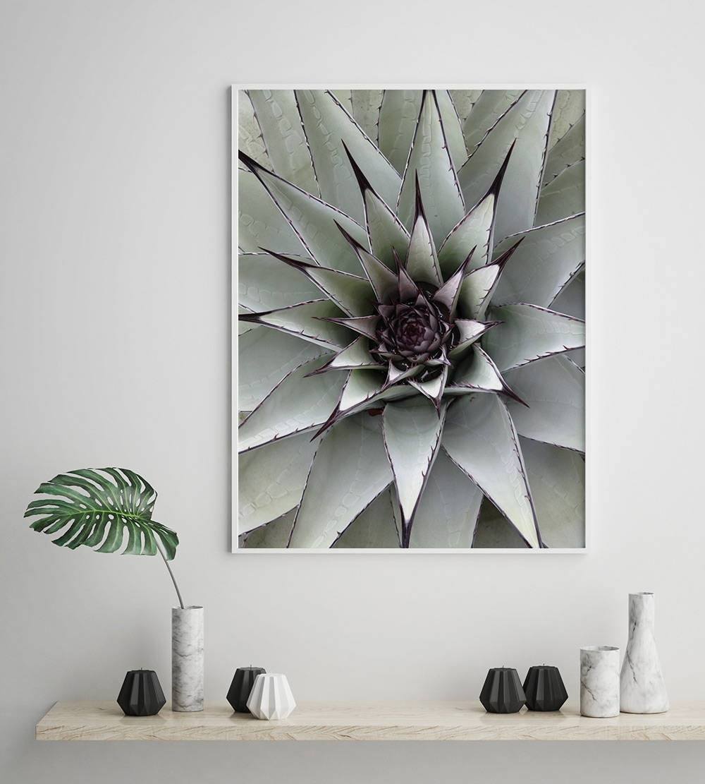 Most Recent Nature Wall Art With Regard To Succulent Plant Poster, Scandinavian Print, Nordic Style, Digital (View 17 of 20)