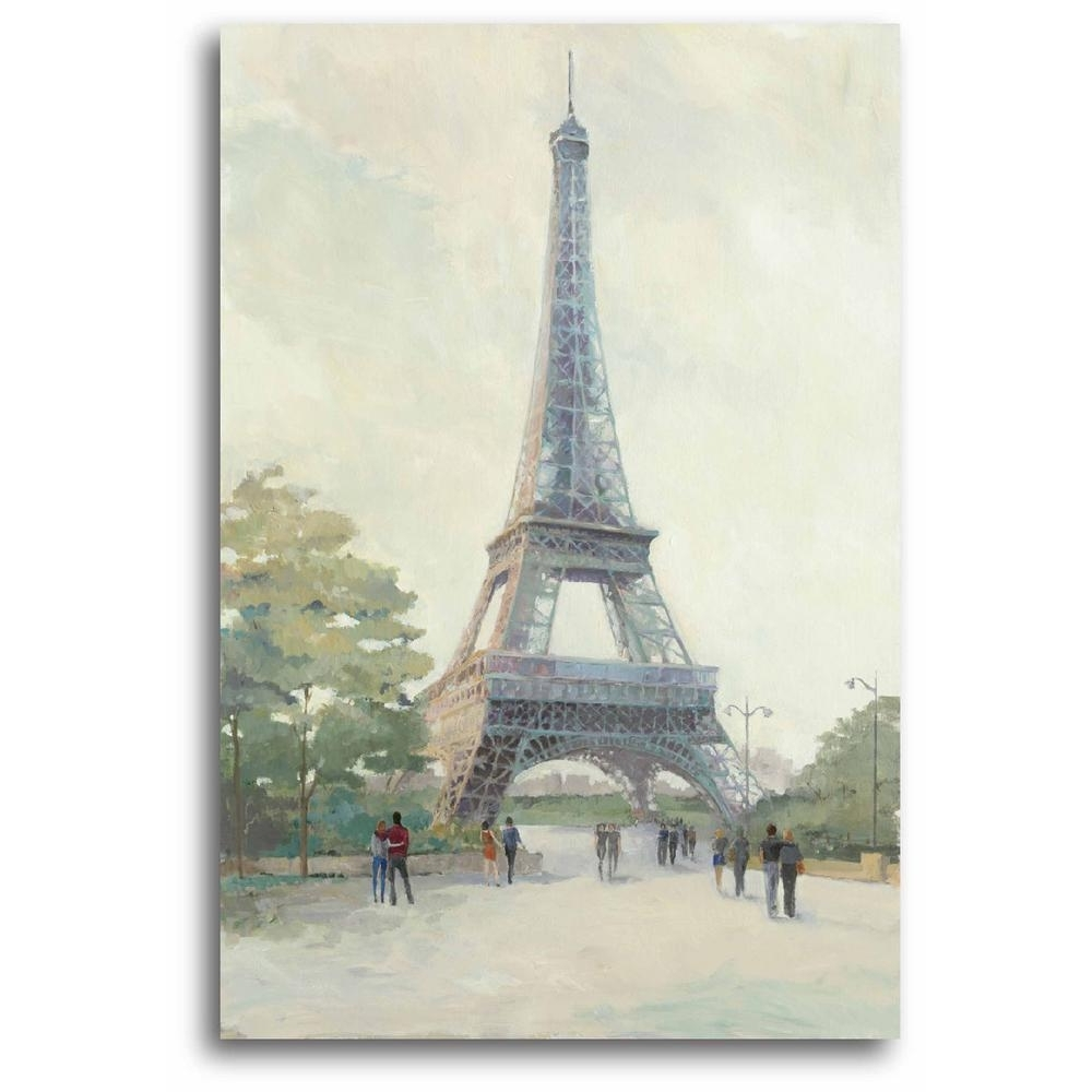 Most Recent Paris Wall Art With Regard To Early Evening Paris Wall Art Web Ap168b – The Home Depot (View 13 of 15)