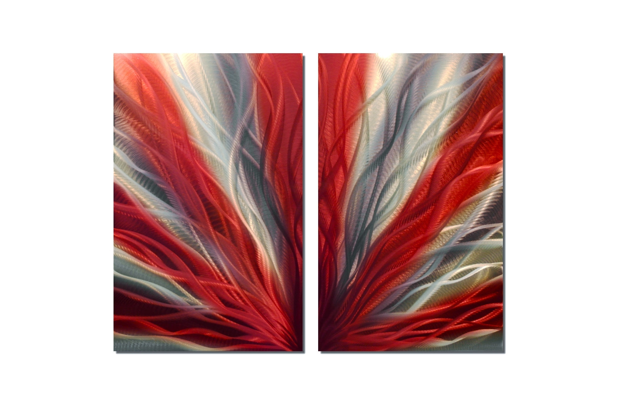 Most Recent Radiance Red 31 – Metal Wall Art Abstract Sculpture Modern Decor Regarding Red Wall Art (View 8 of 15)