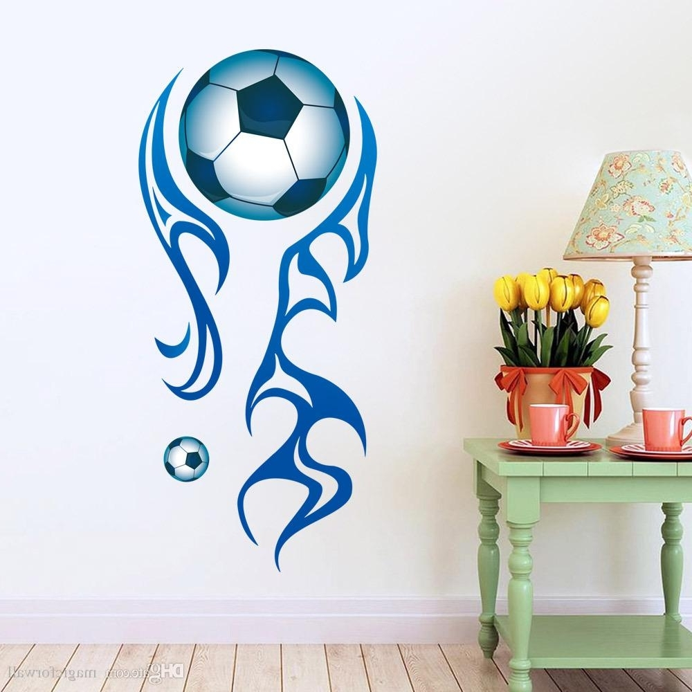 Most Recent Sports Wall Art Throughout New Arrival Football Wall Stickers For Sports Kids Room Removable (View 16 of 20)