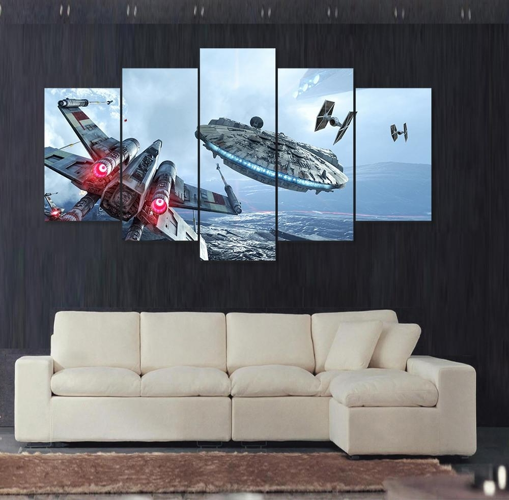 Most Recent Star Wars Wall Art For Star Wars Wall Art Color : Andrews Living Arts – Fantastic Room With (View 2 of 15)