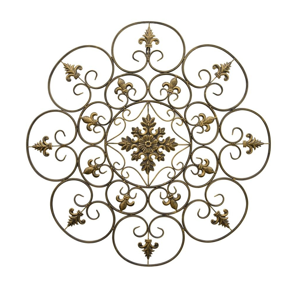 Most Recent Three Hands Gold Metal Scroll Wall Art 87909 – The Home Depot For Metal Scroll Wall Art (View 11 of 20)