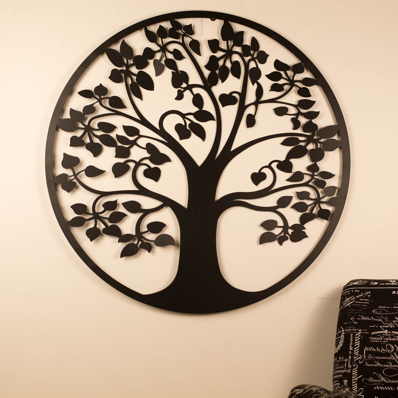 Most Recent Tree Of Life Metal Wall Art Throughout Wall Art 99Cm Tree Of Life Black Metal Unique Steel Stylish Designer (View 2 of 20)
