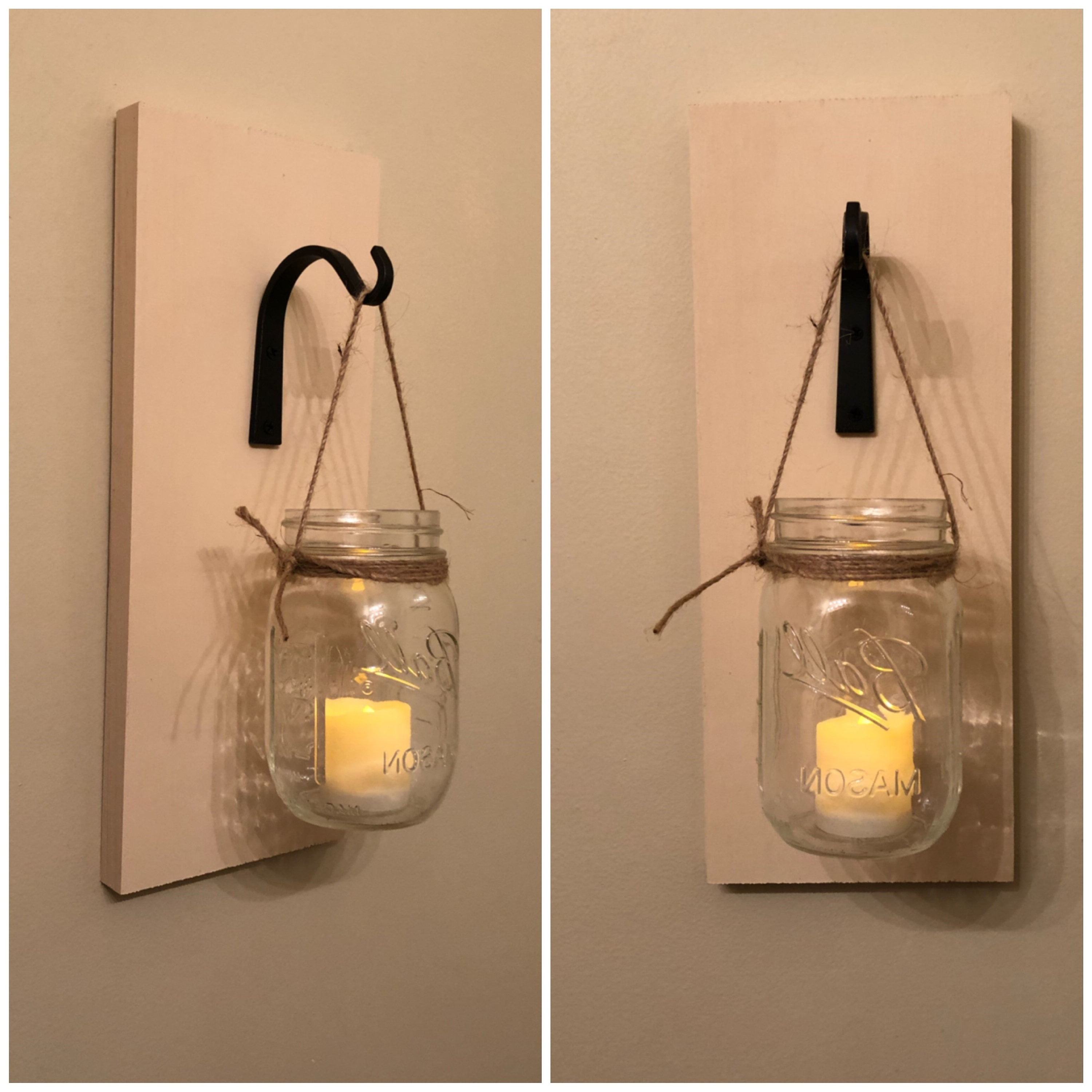 Most Recent Wall Sconce Mason Jar Sconce Country Home Sconce Wall Decor Scheme Inside Mason Jar Wall Art (View 11 of 20)