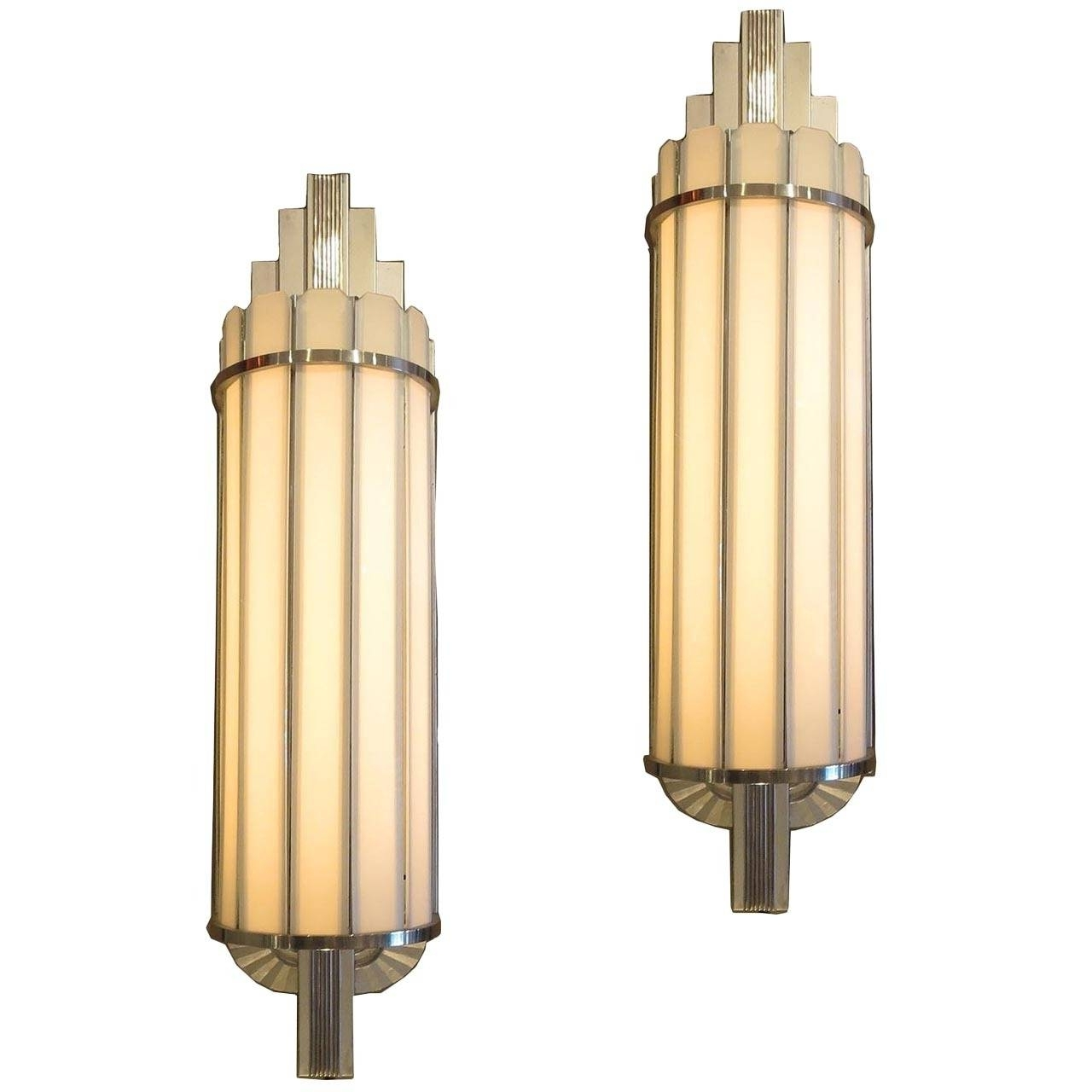 Most Recently Released Art Deco Large Theater Wall Sconces At 1Stdibs Within Art Deco Wall Sconces (View 14 of 20)