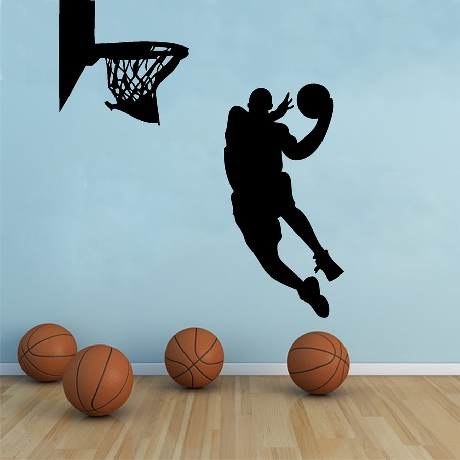 Most Recently Released Basketball Wall Art Regarding Free Shipping Large Size Basketball Wall Art Decor ,basketball (View 2 of 15)