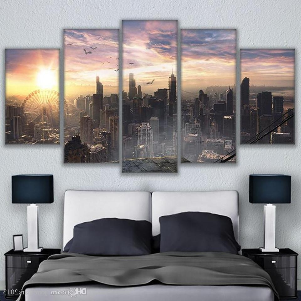 Most Recently Released Chicago Wall Art Intended For 2018 Canvas Living Room Wall Art Decor Hd Prints Pictures Chicago (View 7 of 15)