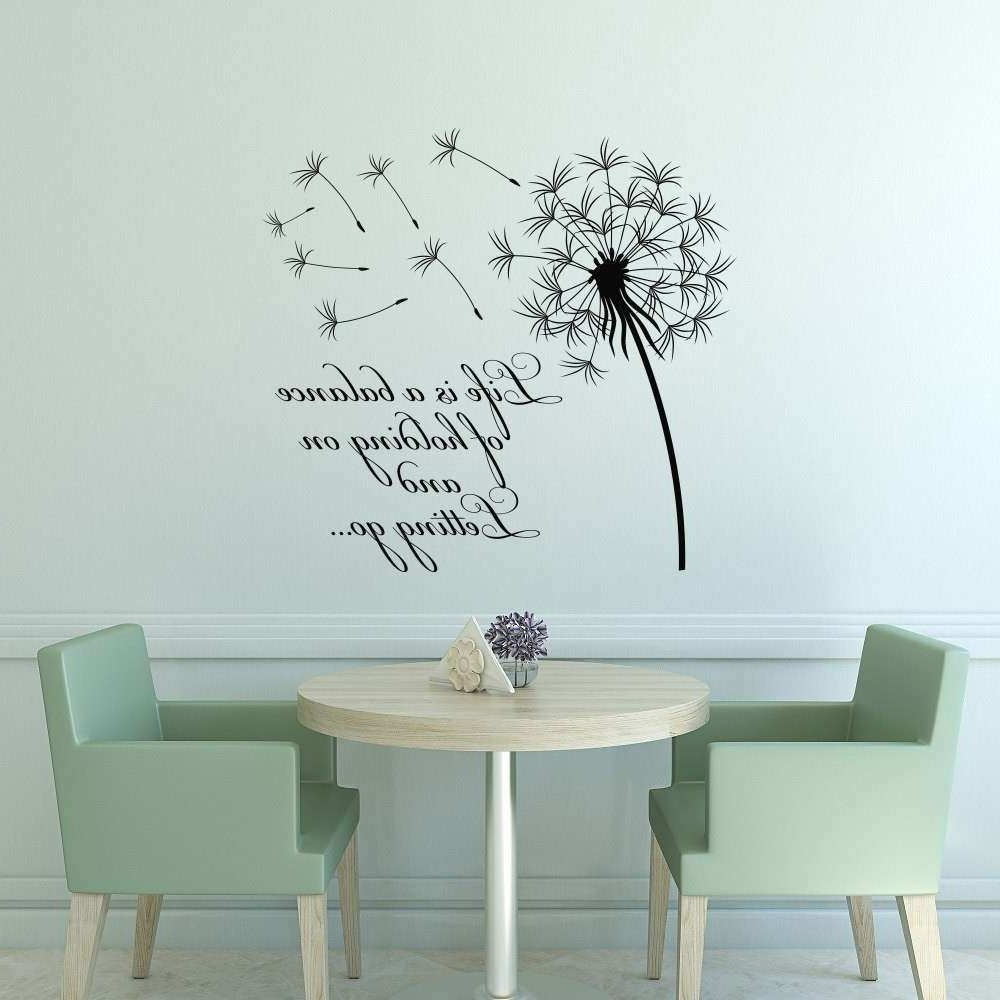 Most Recently Released Dandelion Wall Art Awesome Dandelion Wall Decal Quote Life Is A Intended For Dandelion Wall Art (View 12 of 20)