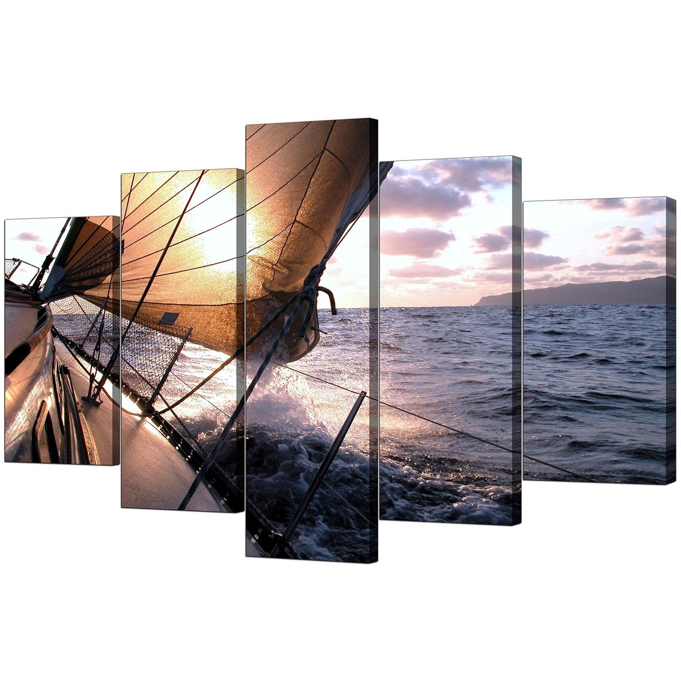 Most Recently Released Five Piece Canvas Wall Art With Regard To Boat Canvas Prints Uk For Your Living Room – 5 Piece (View 12 of 20)