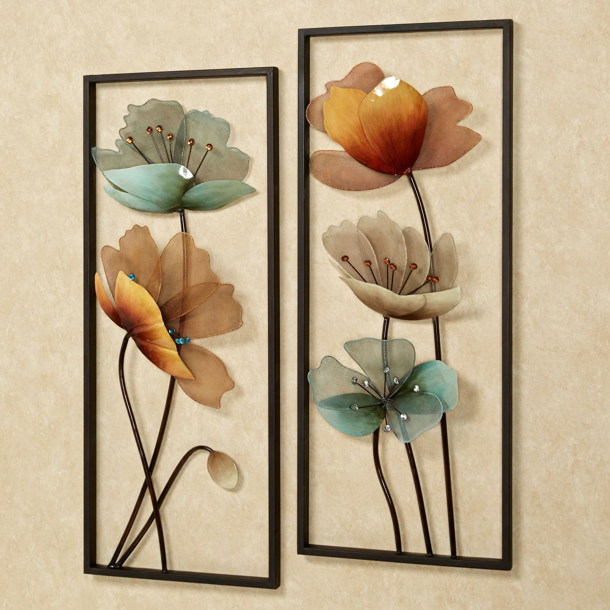 Most Recently Released Floral Metal Hanging Wall Decor Luxury Beautiful Design Metal Wall In Metal Flowers Wall Art (View 15 of 20)