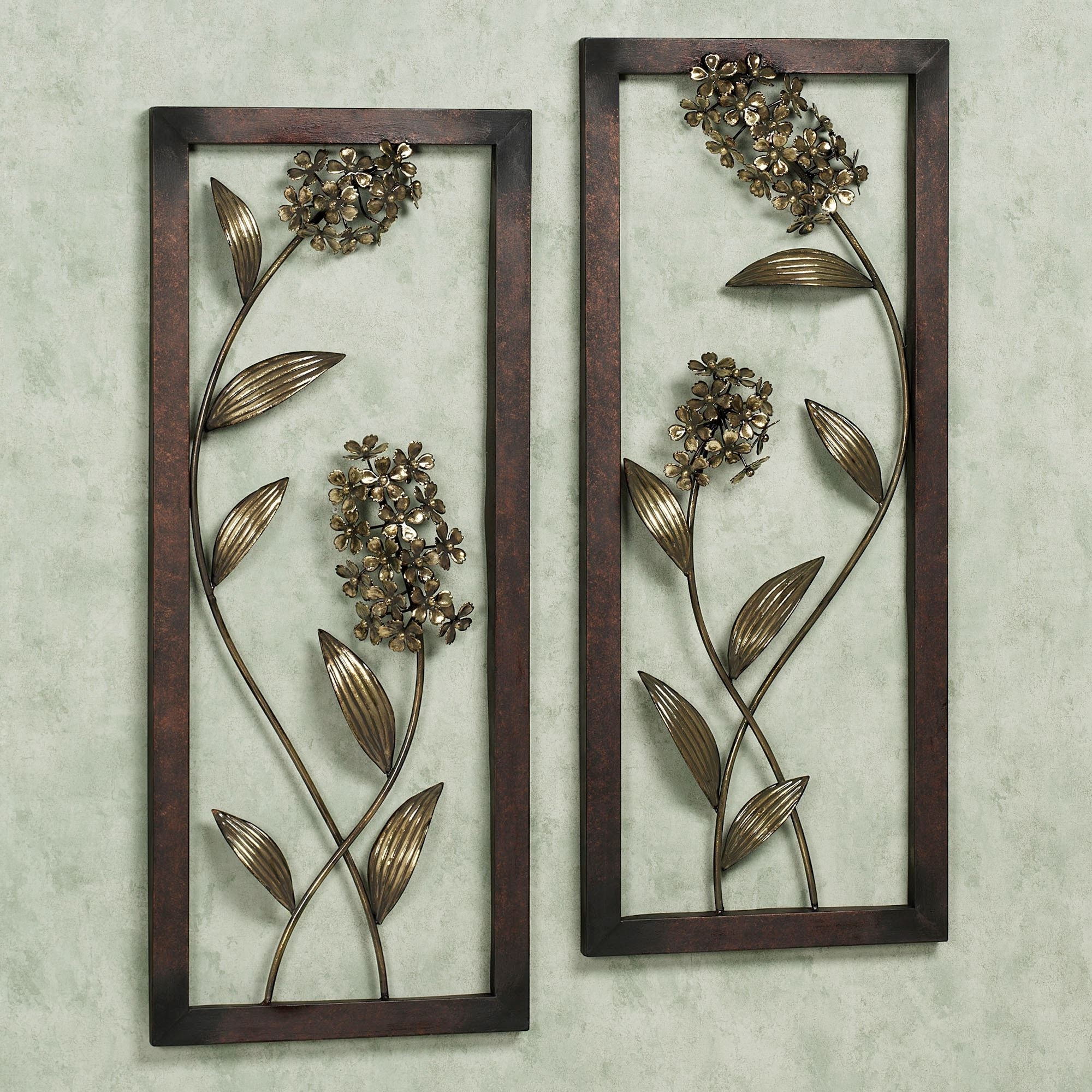 Most Recently Released Hydrangea Glow Metal Wall Art Panel Set With Metal Wall Art Panels (View 15 of 20)