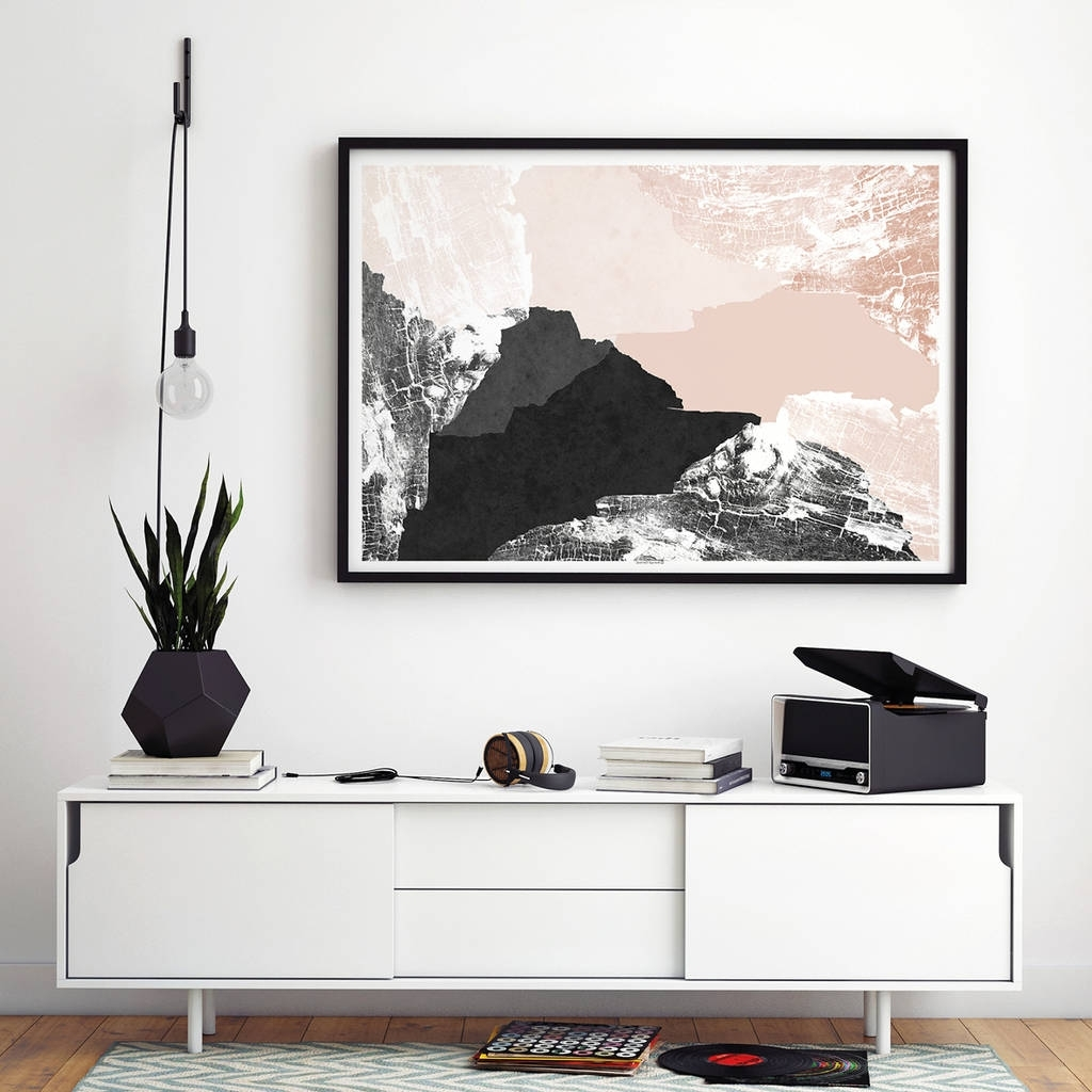 Most Recently Released Large Abstract Wall Art Print Living Room Artbronagh Kennedy In Living Room Wall Art (View 9 of 15)
