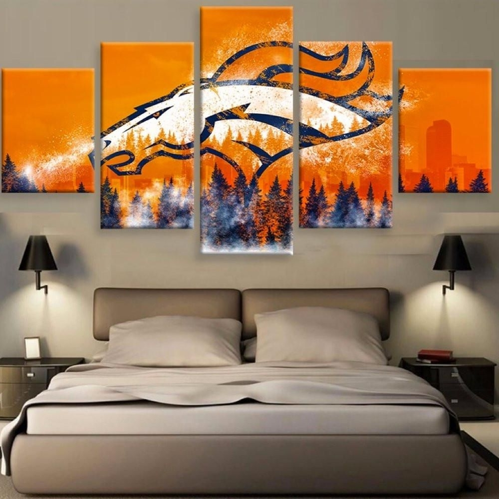 Most Recently Released Limited Edition Broncos 5 Piece Canvas (View 3 of 20)