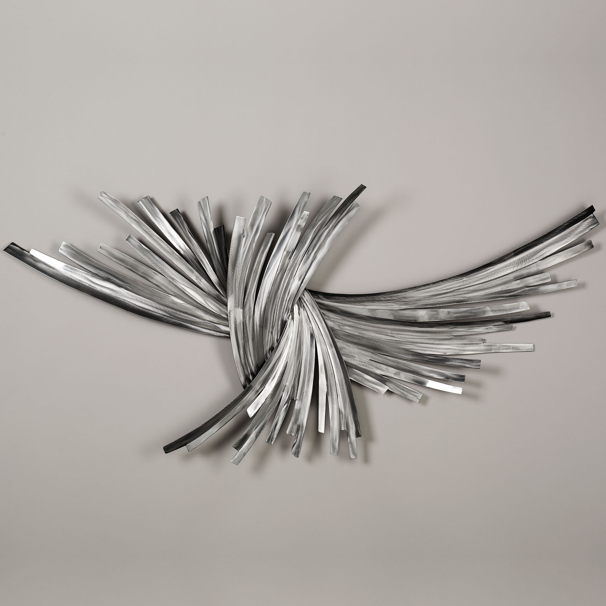 Most Recently Released Metal Wall Art Sculptures With Infinity Silver Metal Wall Sculpture Design Of Metal Fish Wall Art (View 10 of 15)