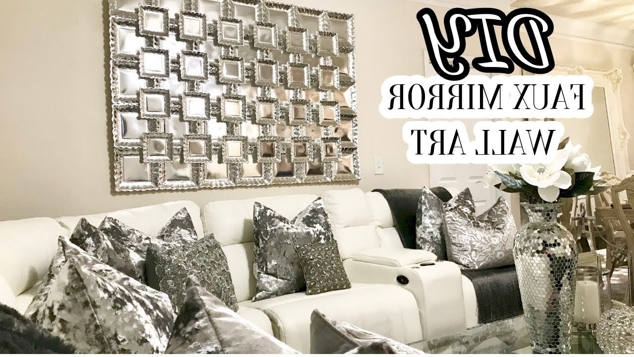Most Recently Released Mirrored Wall Art With Regard To Inspiring Diy Faux Mirror Wall Art Home Decor For With Ideas And (View 10 of 20)