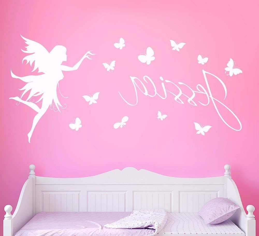 Most Recently Released Name Wall Art With Regard To Butterflies Personalised Name Wall Sticker Kids Home Decor Butterfly (View 10 of 20)