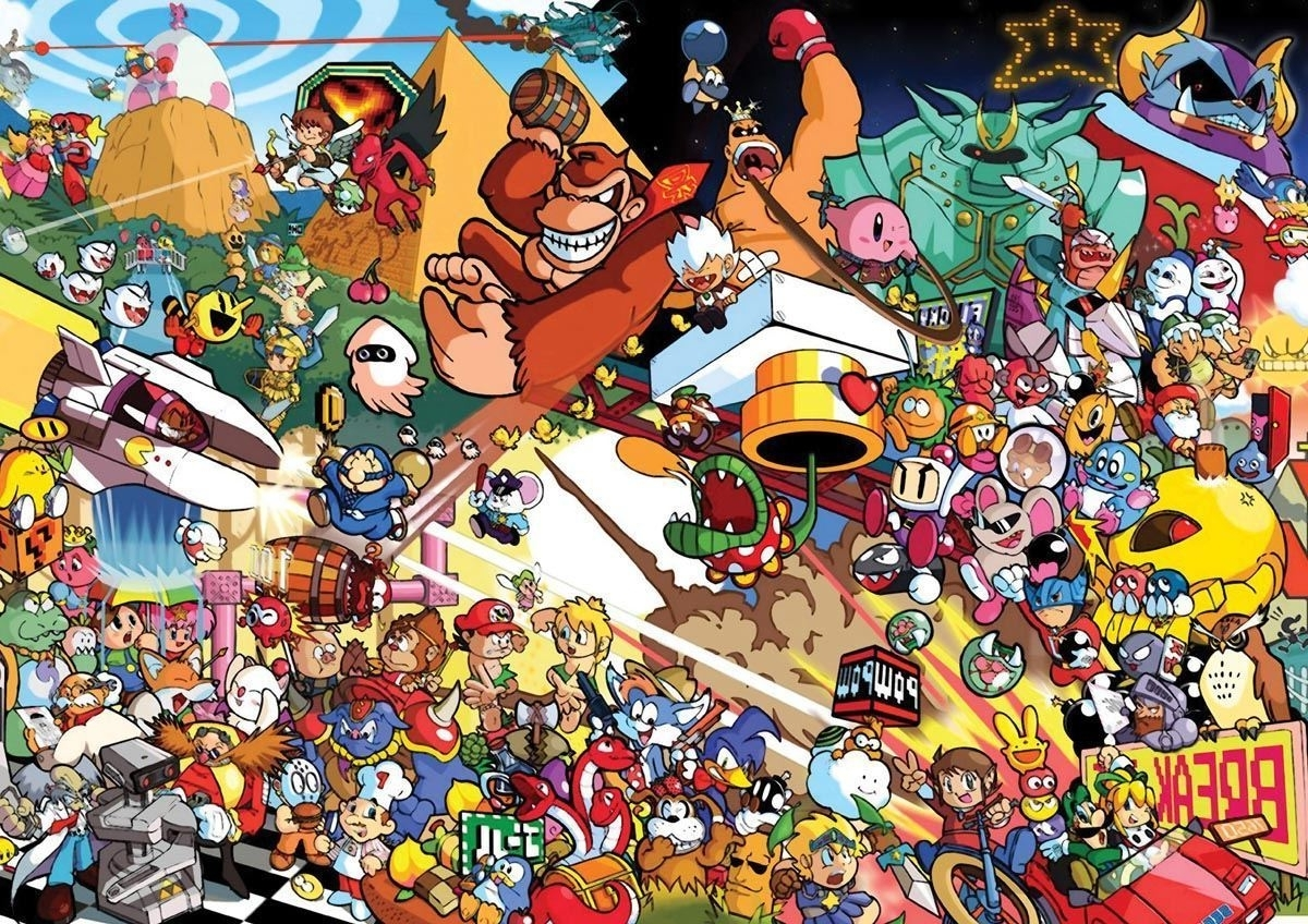 Most Recently Released Nintendo Wall Art Within 195824 Retro Games Characters Snes Nintendo Art Wall Print Poster Uk (View 7 of 20)
