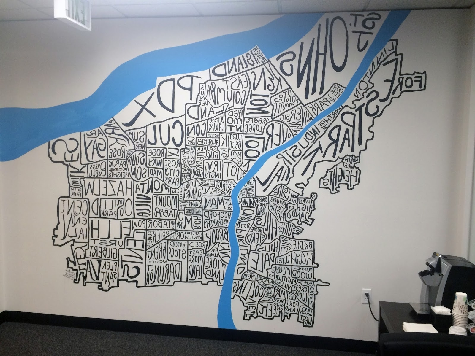Most Recently Released Portland Map Wall Art Within The Talking Walls: A Portland Map For My Title Company (View 8 of 20)