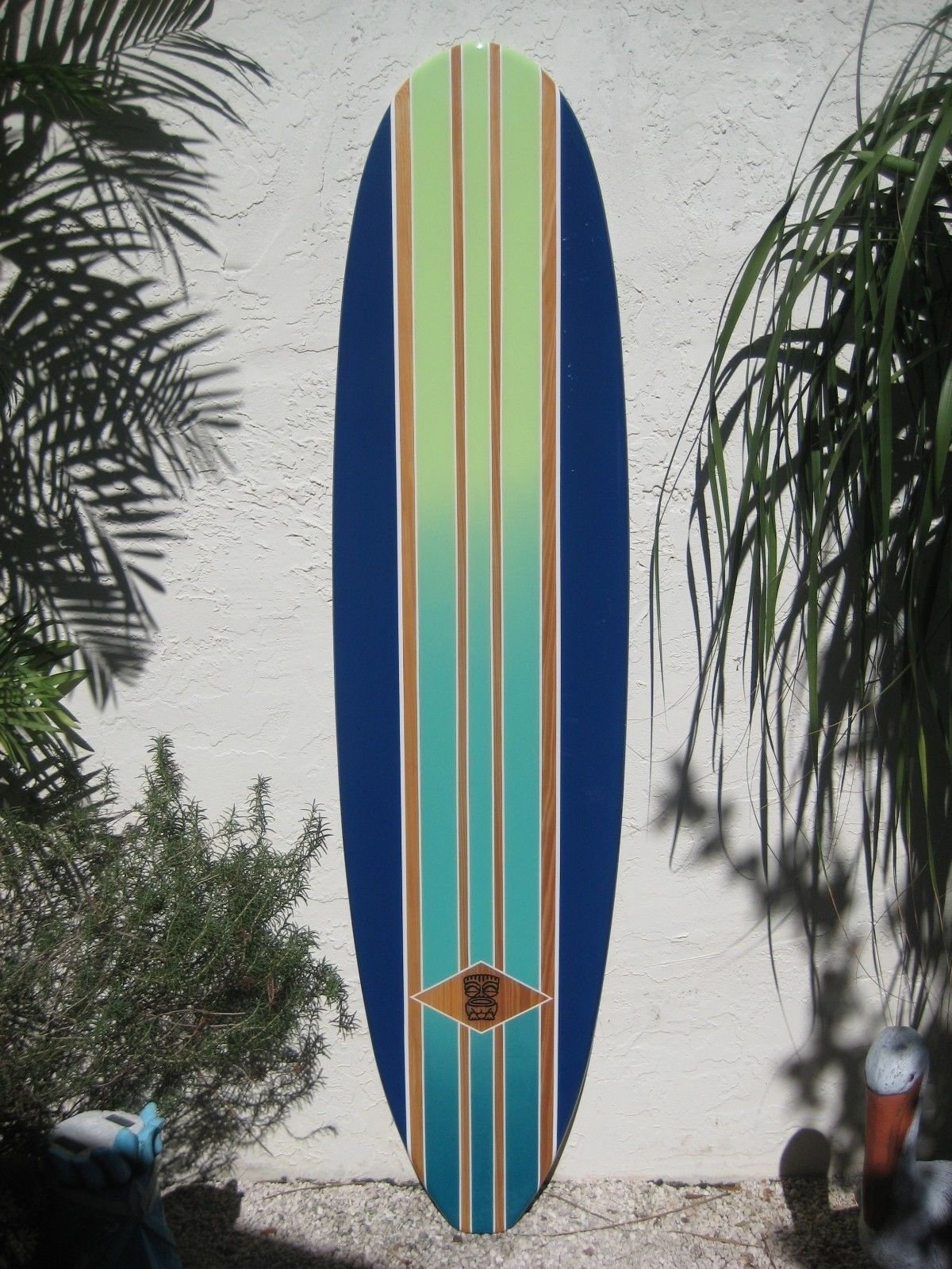 Most Recently Released Surfboard Wall Art Regarding Decorative Wood Surfboard Wall Art Hawaiian Coastal Beach Home Wall (View 8 of 20)