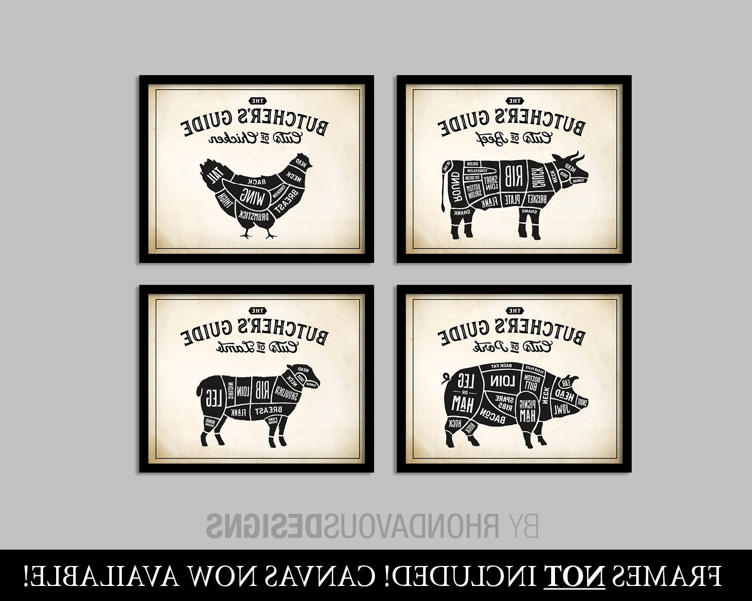 Most Recently Released Wall Art For Kitchen In Kitchen Art. Butcher Chart. Butcher Diagram. Butcher Print (View 11 of 20)