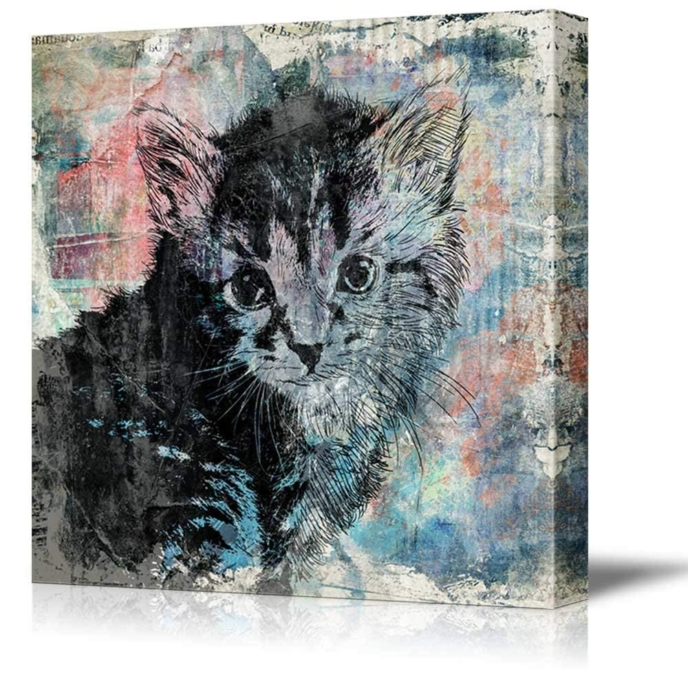 Most Recently Released Wall26 Square Cat Series Canvas Wall Art – A Little Kitty On Pertaining To Cat Canvas Wall Art (View 12 of 20)