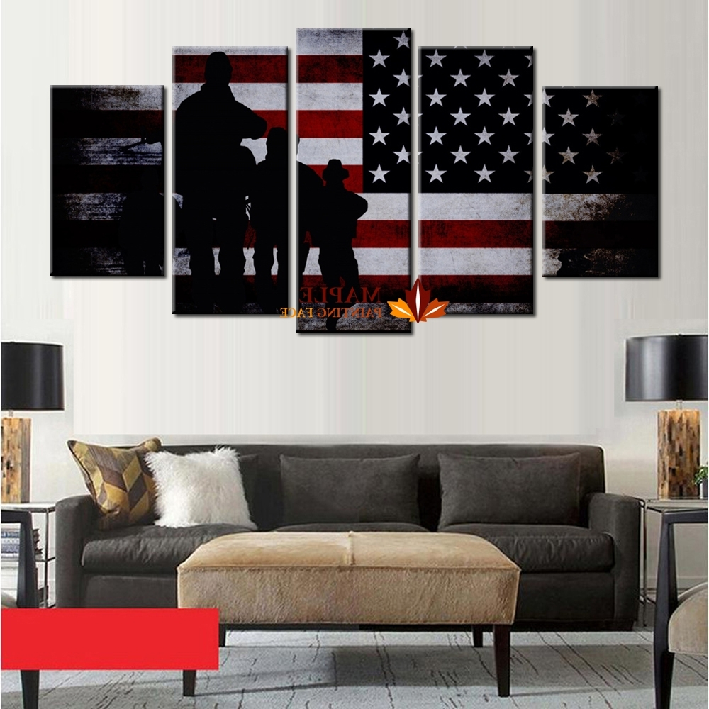 Most Recently Released Wholesale 5 Panel Large Poster Printed Canvas Painting Retro Pertaining To Cheap Large Wall Art (View 18 of 20)