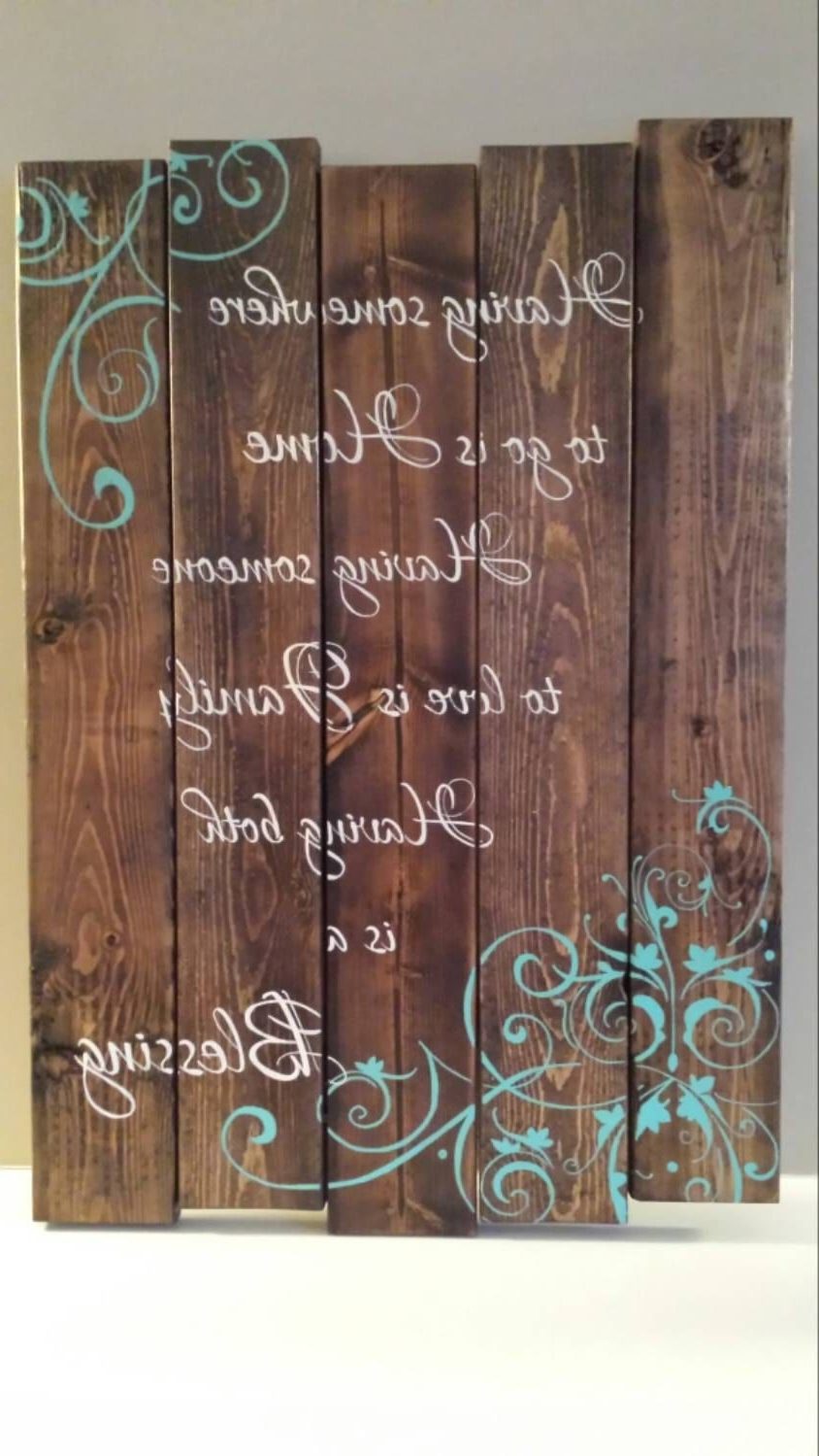Most Recently Released Wood Wall Art Quotes Throughout Reclaimed Wood Wall Art Family Quote Signtinhatdesigns (View 8 of 20)