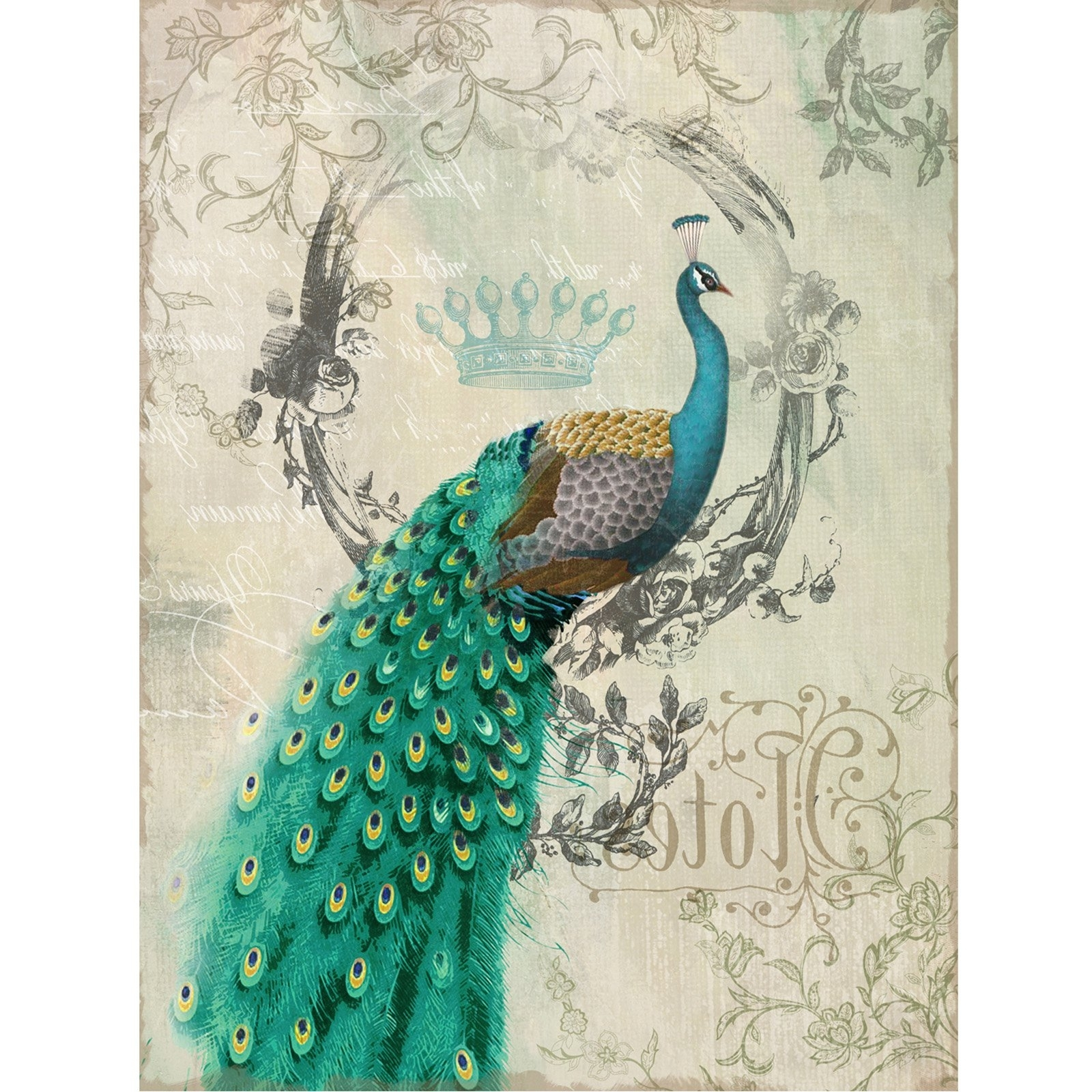 Most Recently Released Yosemite Home Decor Peacock Poise Ii Wall Art – 24w X 35h In Inside Peacock Wall Art (View 6 of 15)