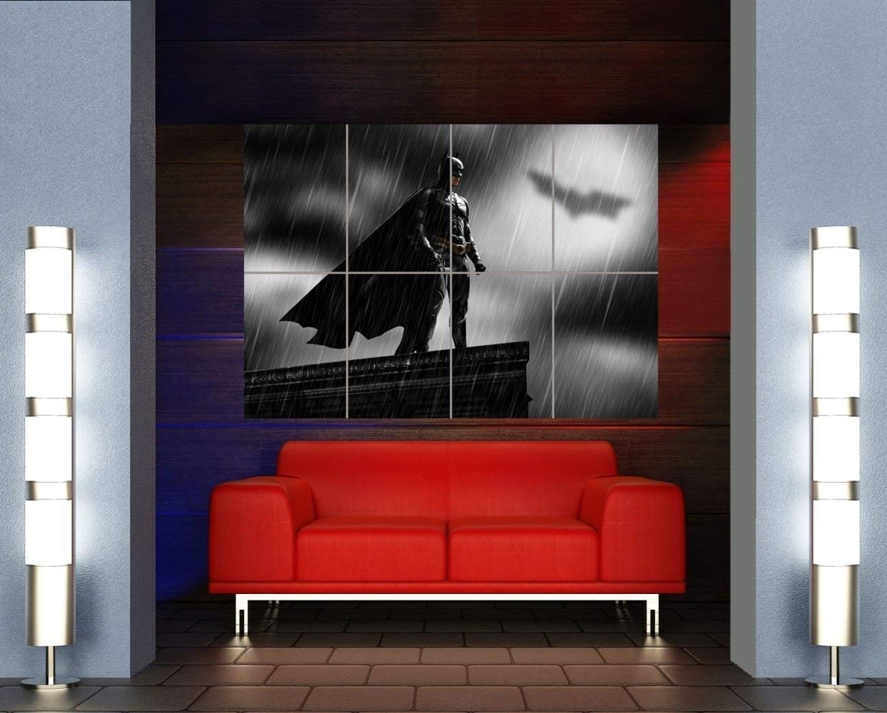 Most Up To Date Amazon: Batman Superhero Art Bat Signal Giant Wall Art Print Pertaining To Giant Wall Art (View 15 of 20)