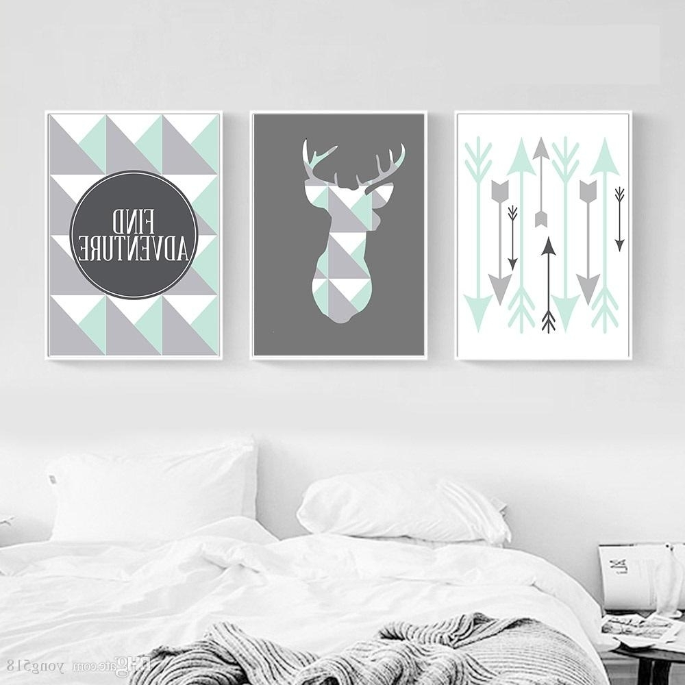 Most Up To Date Arrow Wall Art In 2018 Geometric Deer Arrow Wall Art Canvas Posters Prints Nordic (View 14 of 20)